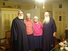 Fr. George, Matushka Deborah, Matushka Brigid, and Father John, in Atlanta
