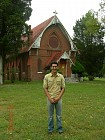 Elijah Berry visits the church on the hill - the St. Joseph's chapel, in September