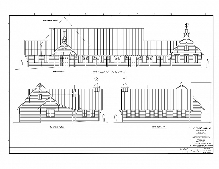 Parish Hall Elevations