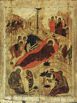 Icon of the Nativity, by St Andrei Rublev
