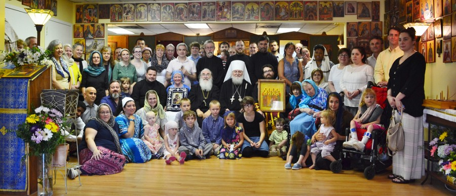 2016 Visit of Metropolitan Hilarion and the Myrrh-Streaming Hawaiian Iveron Icon for the Parish's 15th Anniversary